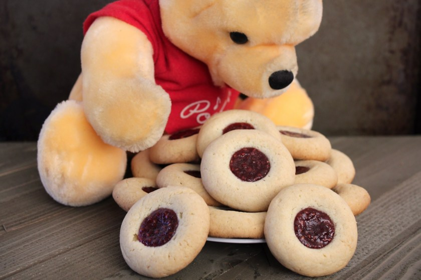 Winnie the Pooh's Hero (Thumbprint) Cookie Recipe from Disney's The Many Adventures of Winnie the Pooh.