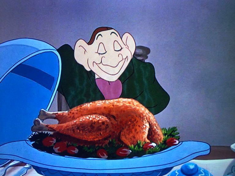 Ichabod's Turkey Recipe from Disney's The Adventures of Ichabod and Mr. Toad, or Sleepy Hollow.