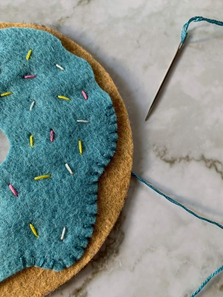 DIY Felt Stacking or Stackable Doughnuts with Sprinkles