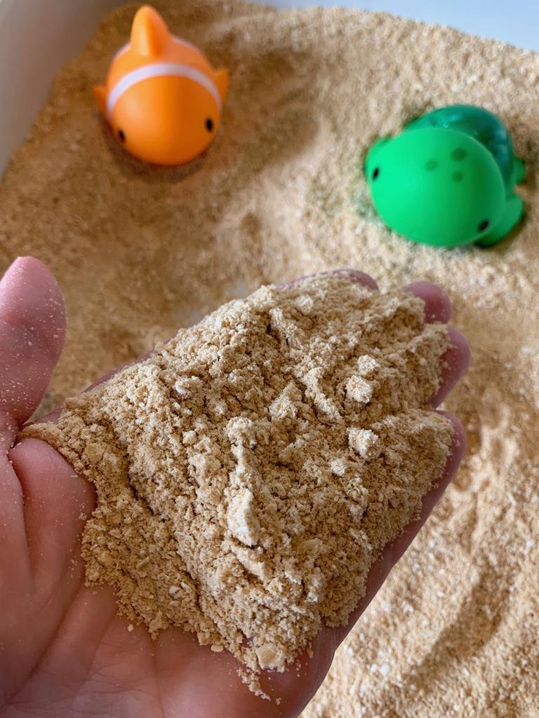 DIY Edible Sand for Sensory Play