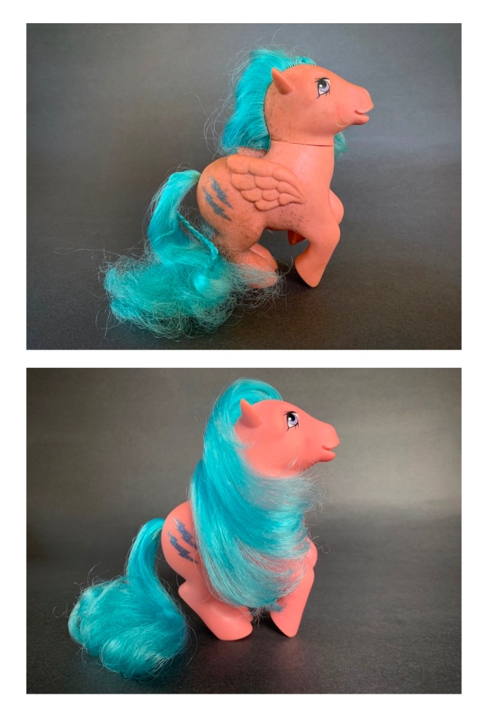 How to Clean Classic My Little Pony Toys - Firefly Before and After