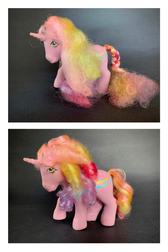 How to Clean Classic My Little Pony Toys - Streaky Before and After