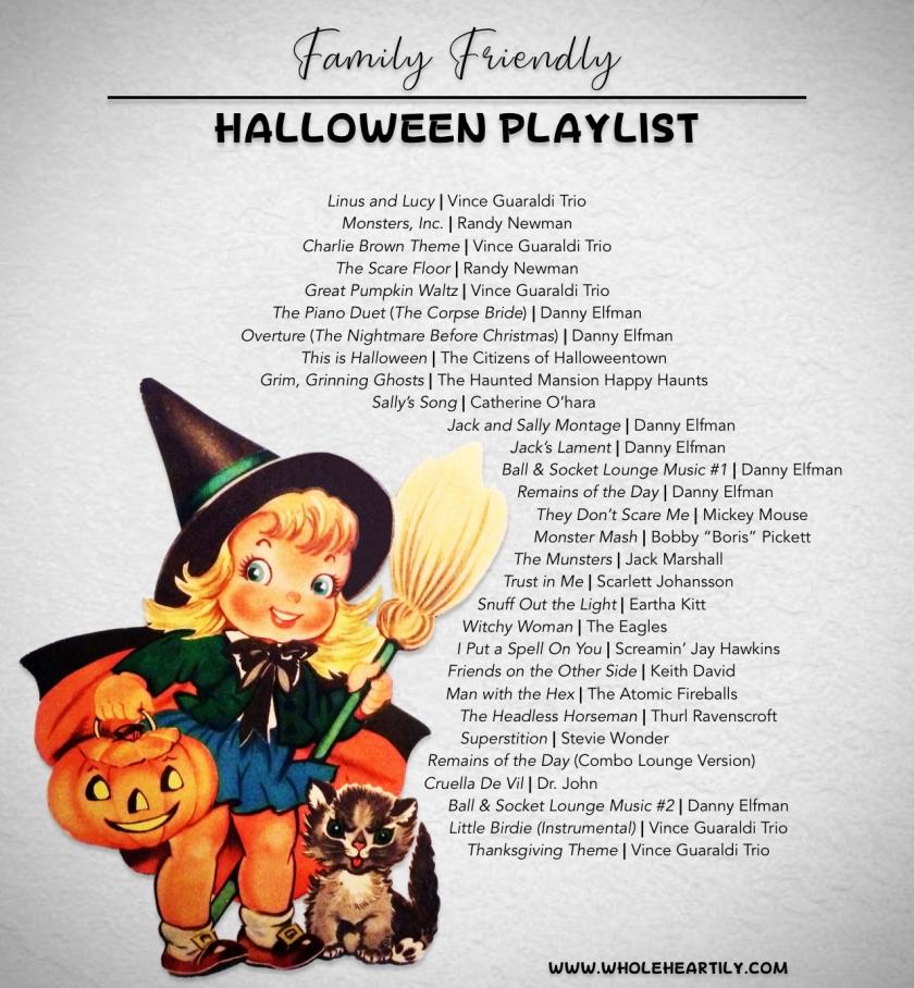 Family Friendly Halloween Playlist 2020