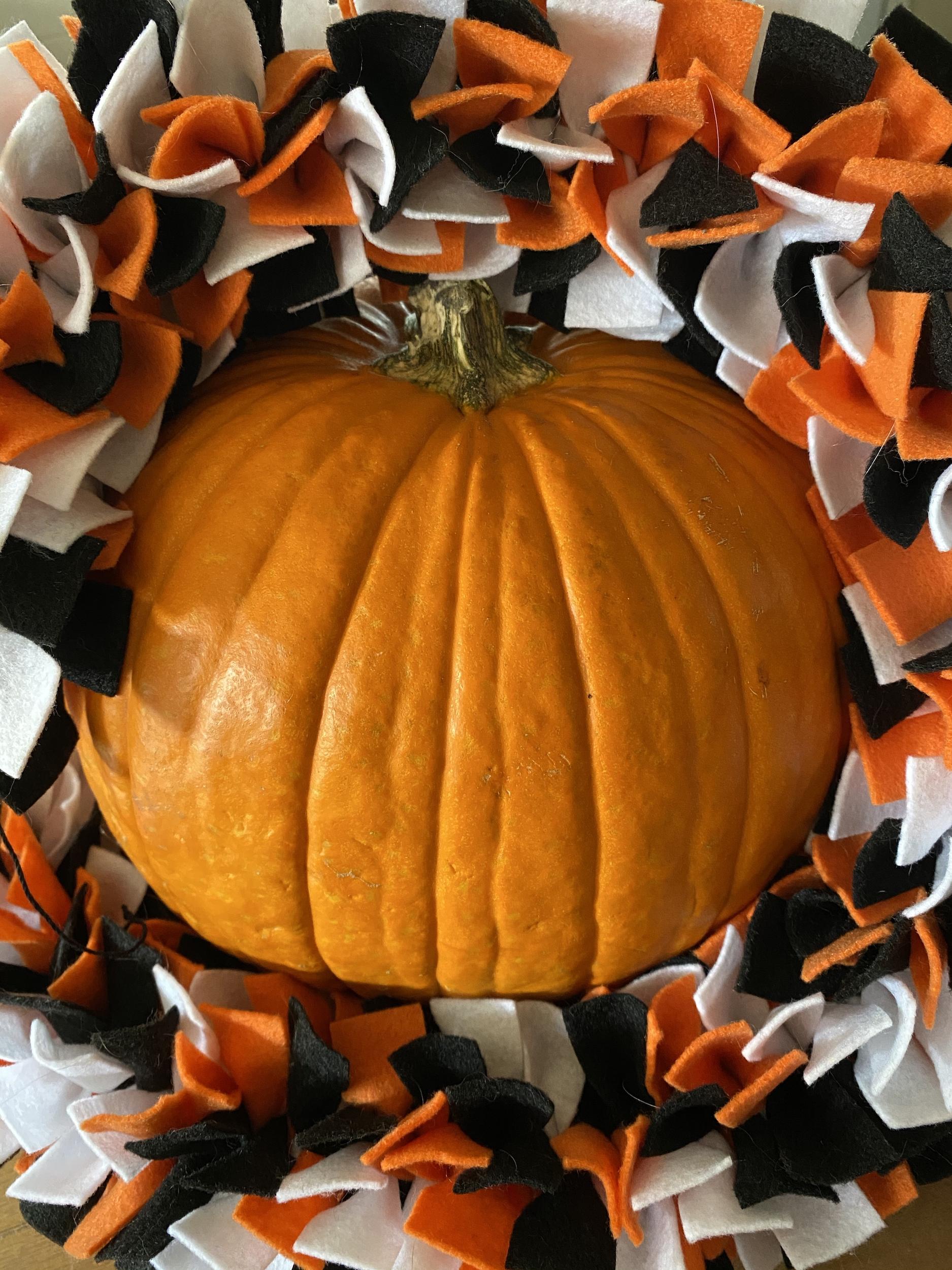 Diy Pinched Felt Halloween Garland Whole Heartily